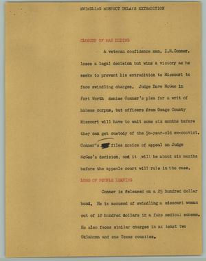 Primary view of object titled '[News Script: Delay]'.