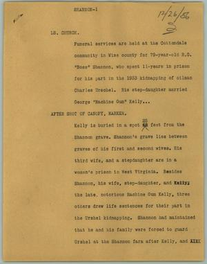 Primary view of object titled '[News Script: Shannon]'.