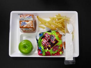Primary view of object titled 'Student Lunch Tray: 02_20110131_02A5562'.