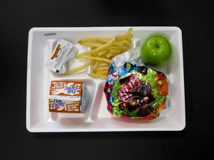 Primary view of object titled 'Student Lunch Tray: 02_20110131_02A5563'.