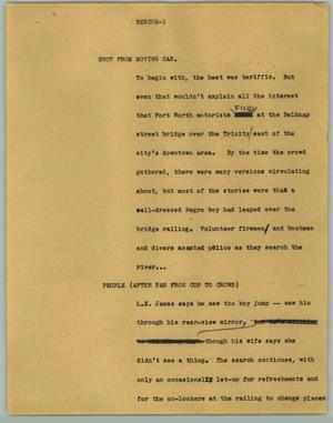 Primary view of object titled '[News Script: Rescue]'.
