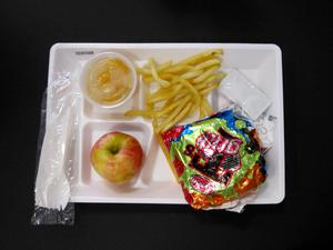 Primary view of object titled 'Student Lunch Tray: 02_20110131_02A5568'.