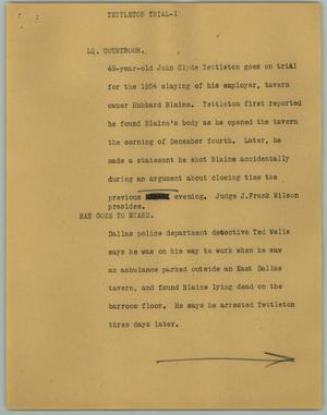 Primary view of object titled '[News Script: Tettleton Trial]'.