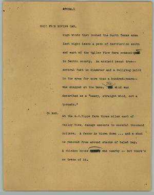 Primary view of object titled '[News Script: Storm]'.