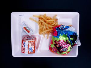 Primary view of object titled 'Student Lunch Tray: 02_20110131_02A5573'.