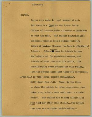 Primary view of object titled '[News Script: Buffalo]'.