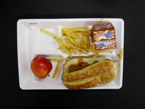 Primary view of object titled 'Student Lunch Tray: 02_20110131_02A5593'.