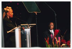 Primary view of object titled '[Kim Fields and Curtis King at TBAAL Anniversary Gala]'.