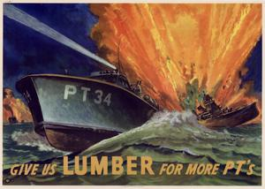 Primary view of object titled 'Give us lumber for more PT's.'.