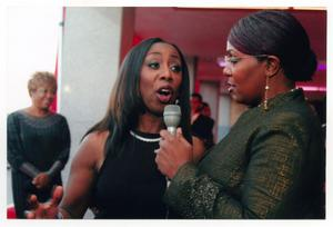 Primary view of object titled '[Oleta Adams on Red Carpet]'.
