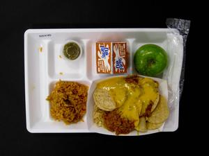 Primary view of object titled 'Student Lunch Tray: 02_20110131_02C4185'.