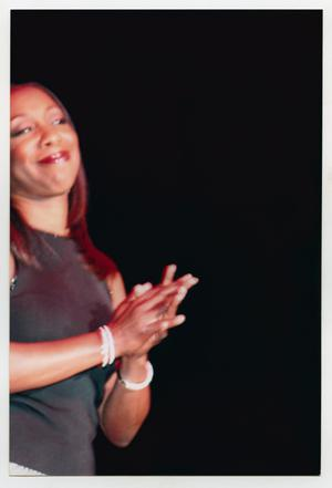 Primary view of object titled '[Oleta Adams on Stage]'.