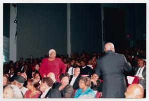 Primary view of object titled '[Peabo Bryson Performing for Audience]'.