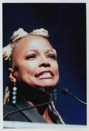 Primary view of object titled '[Kim Fields at TBAAL Anniversary Gala]'.