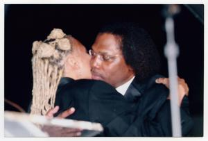 Primary view of object titled '[Kim Fields with Curtis King at TBAAL Anniversary Gala]'.