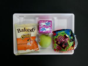 Primary view of object titled 'Student Lunch Tray: 02_20110208_02A5765'.