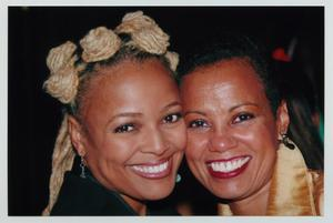 Primary view of object titled '[Kim Fields with Guest]'.