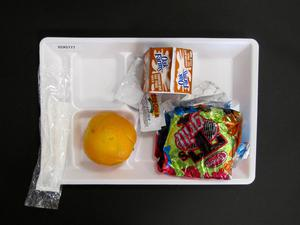 Primary view of object titled 'Student Lunch Tray: 02_20110208_02A5777'.