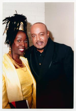Primary view of object titled '[Peabo Bryson with Guest]'.