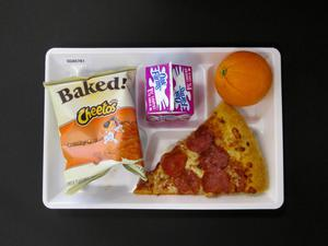 Primary view of object titled 'Student Lunch Tray: 02_20110208_02A5781'.