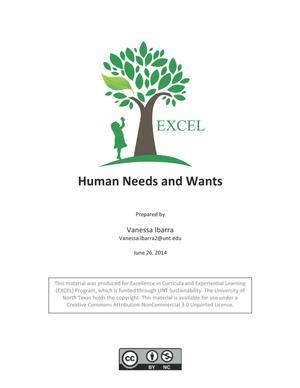Human Needs and Wants