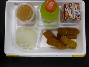 Primary view of object titled 'Student Lunch Tray: 02_20110208_02B6157'.