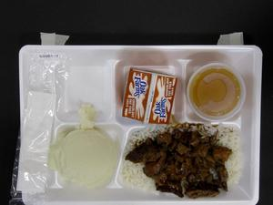 Primary view of object titled 'Student Lunch Tray: 02_20110208_02B6173'.