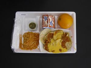 Primary view of object titled 'Student Lunch Tray: 02_20110208_02C4357'.