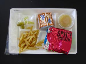 Primary view of object titled 'Student Lunch Tray: 01_20110216_01A5610'.
