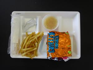 Primary view of object titled 'Student Lunch Tray: 01_20110216_01A5611'.
