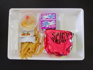 Primary view of object titled 'Student Lunch Tray: 01_20110216_01A5616'.
