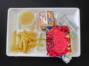 Primary view of object titled 'Student Lunch Tray: 01_20110216_01A5618'.