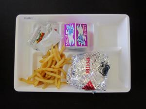 Primary view of object titled 'Student Lunch Tray: 01_20110216_01A5621'.