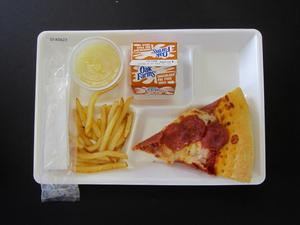 Primary view of object titled 'Student Lunch Tray: 01_20110216_01A5627'.