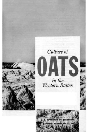 Primary view of object titled 'Culture of oats in the western states.'.