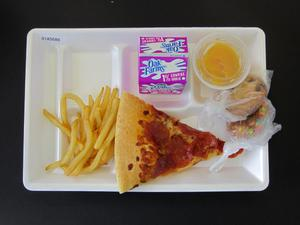 Primary view of object titled 'Student Lunch Tray: 01_20110216_01A5686'.