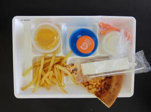 Primary view of object titled 'Student Lunch Tray: 01_20110216_01A5687'.