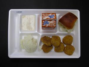 Primary view of object titled 'Student Lunch Tray: 01_20110216_01B5964'.