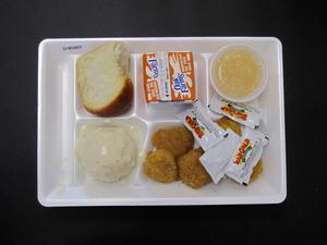 Primary view of object titled 'Student Lunch Tray: 01_20110216_01B5965'.