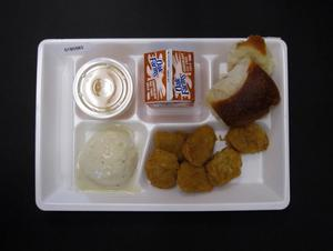 Primary view of object titled 'Student Lunch Tray: 01_20110216_01B5983'.
