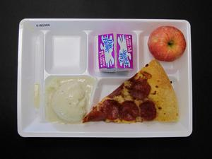 Primary view of object titled 'Student Lunch Tray: 01_20110216_01B5988'.