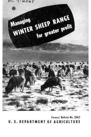 Primary view of object titled 'Managing winter sheep range for greater profit.'.