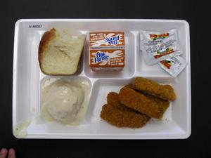 Primary view of object titled 'Student Lunch Tray: 01_20110216_01B6021'.