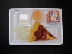Primary view of object titled 'Student Lunch Tray: 01_20110216_01B6023'.