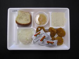 Primary view of object titled 'Student Lunch Tray: 01_20110216_01B6029'.