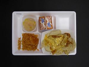 Primary view of object titled 'Student Lunch Tray: 01_20110216_01C4225'.