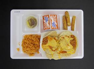 Primary view of object titled 'Student Lunch Tray: 01_20110216_01C4230'.