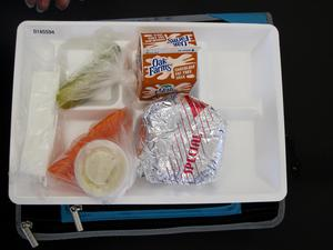 Primary view of object titled 'Student Lunch Tray: 01_20110217_01A5594'.
