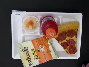 Primary view of object titled 'Student Lunch Tray: 01_20110217_01A5601'.