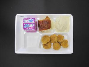 Primary view of object titled 'Student Lunch Tray: 01_20110217_01B6038'.